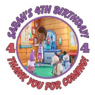 Personalised Doc McStuffins Party Stickers